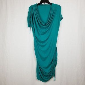 CATHERINE MELANDRINO GREEN DRESS SIZE LARGE